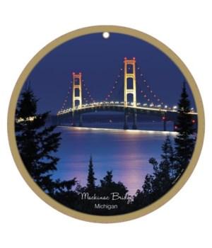 """Mackinac Bridge night scene 10"""""""