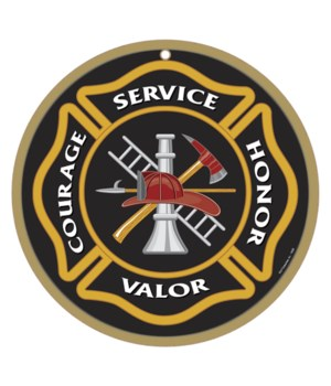 Service, Courage Honor Valor 10""