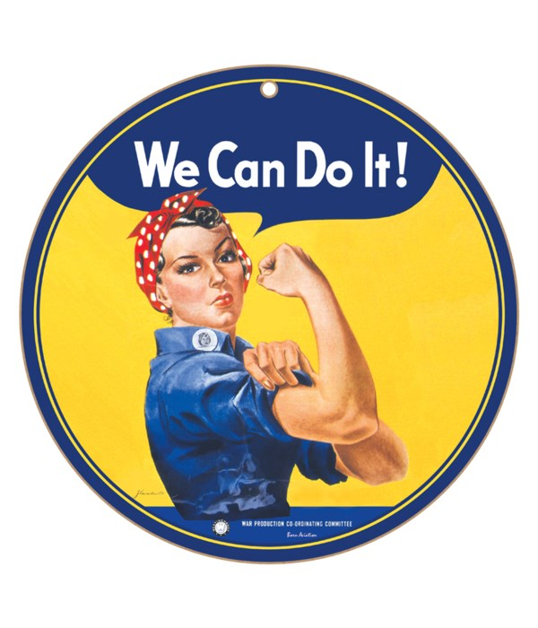 "Rosie the Riveter 10"" Round"
