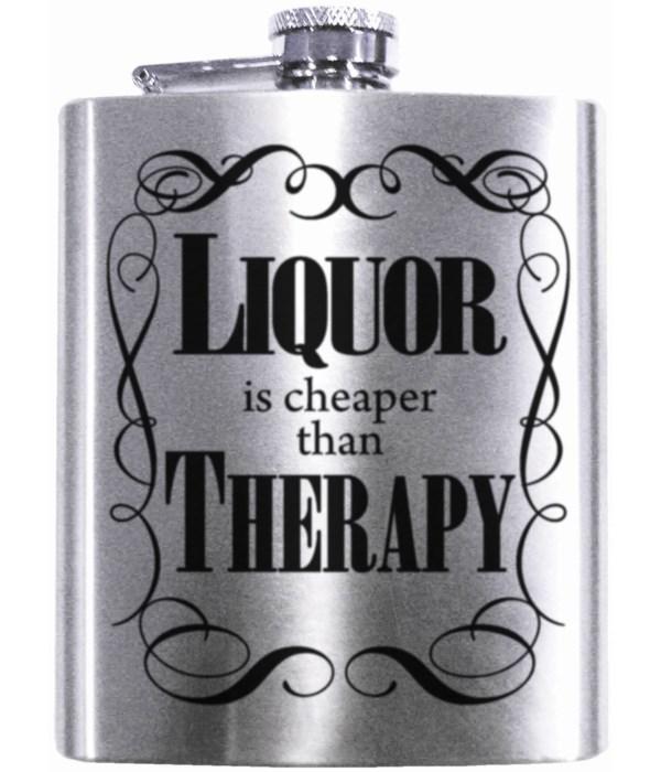 LIQUOR CHEAPER-THERAPY FLASK