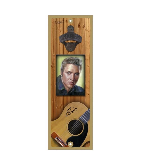 Elvis portrait - Guitar on bottom surfbd