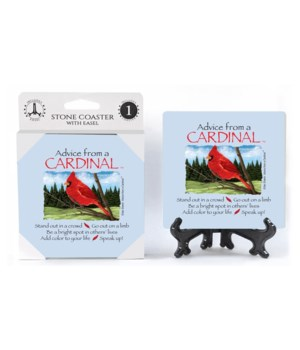 Advice from a Cardinal  coaster 1-pack
