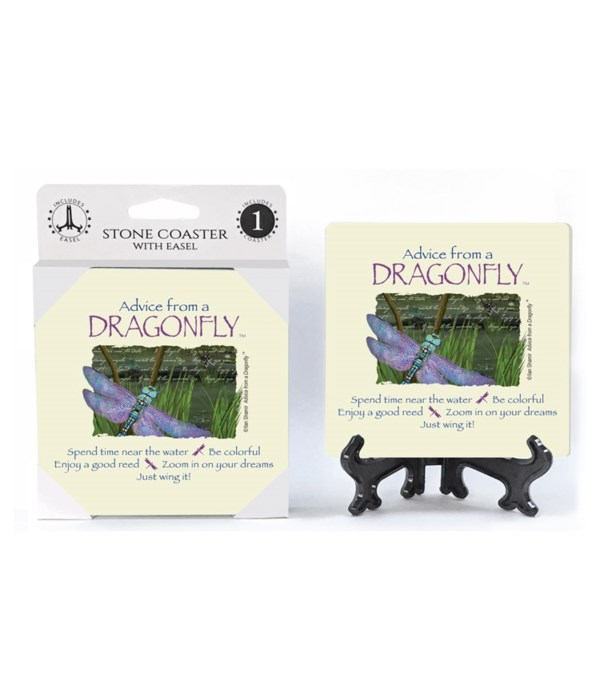 Advice from a Dragonfly  coaster 1-pack