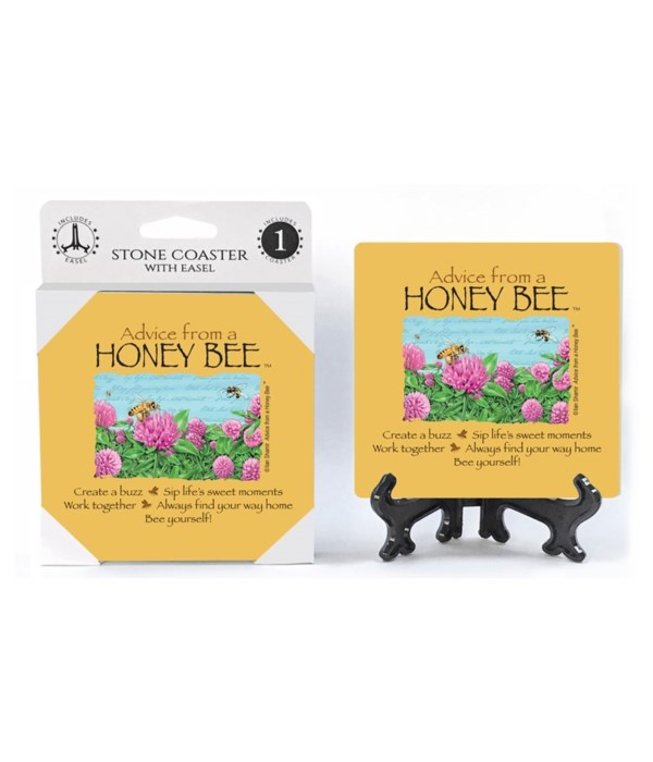 Advice from a Honey Bee  coaster 1-pack