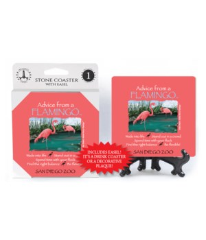 Advice from a Flamingo  coaster 1-pack