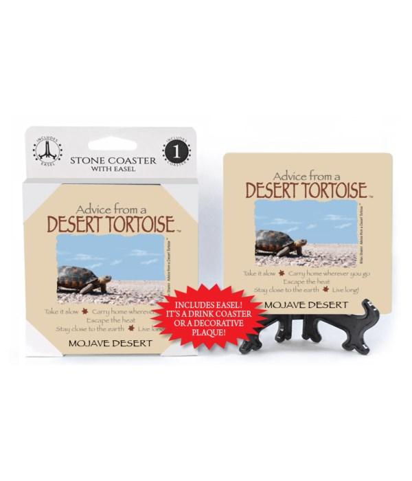 Advice from a Desert Tortoise Coaster