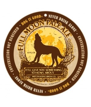 """Full Moon Pale Ale 10"""" Round Sign"""