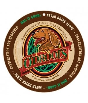 O'Drools Irish Setter Bru round sign 10""