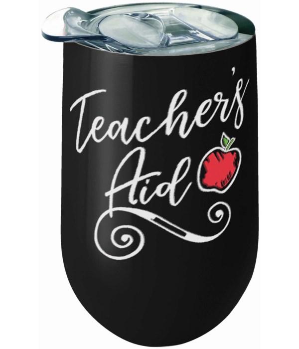 TEACHER'S STNLS WINE TUMBLER