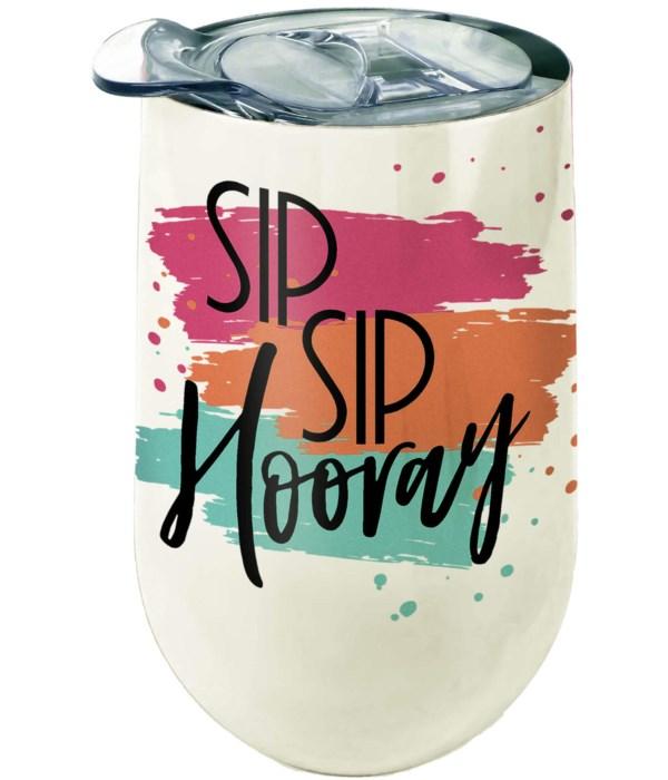 SIP HOORAY STNLS WINE TUMBLER