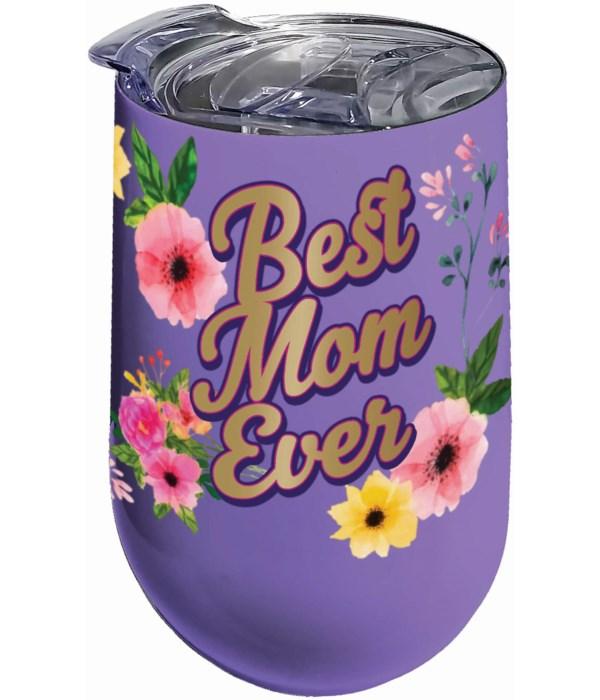 BEST MOM STNLS WINE TUMBLER