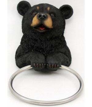 Bear towel holder 8""