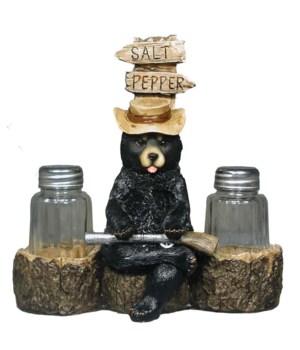Bear w gun salt / pepper