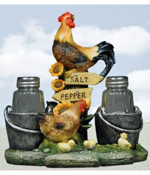 Rooster Salt & Pepper Set - 7""