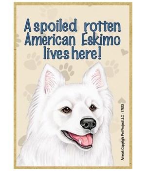 A spoiled rotten American Eskimo lives h