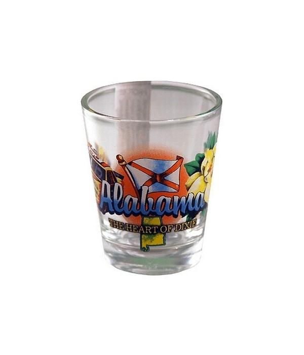 Alabama elements shotglass