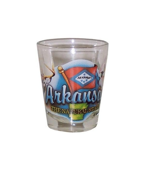 Arkansas elements shotglass