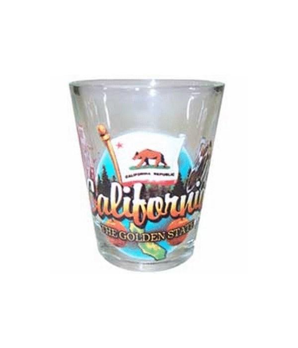 California elements shotglass