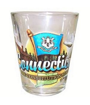 Connecticut element shotglass