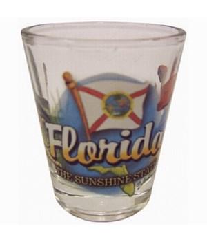 Florida elements shotglass