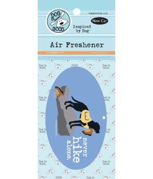 Never Hike Alone Air Freshener