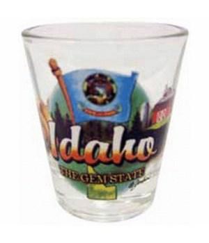 Idaho elements shotglass