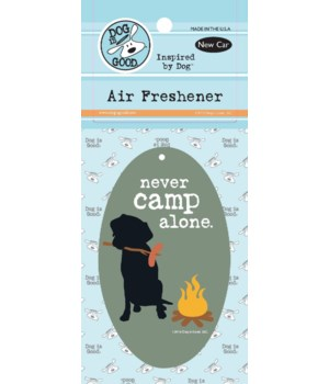 Never Camp Alone Air Freshener