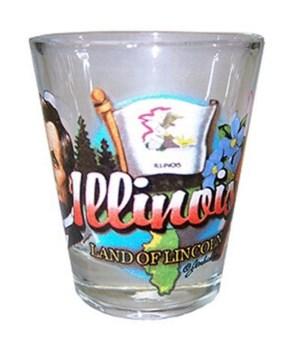 Illinois elements shotglass