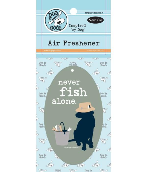 Never Fish Alone Air Freshener