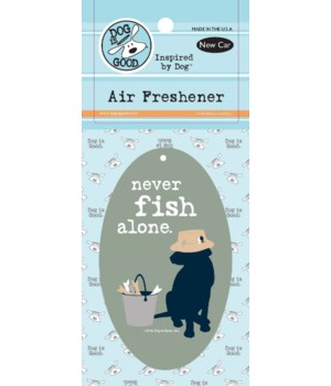 Never Fish Alone Air Freshener