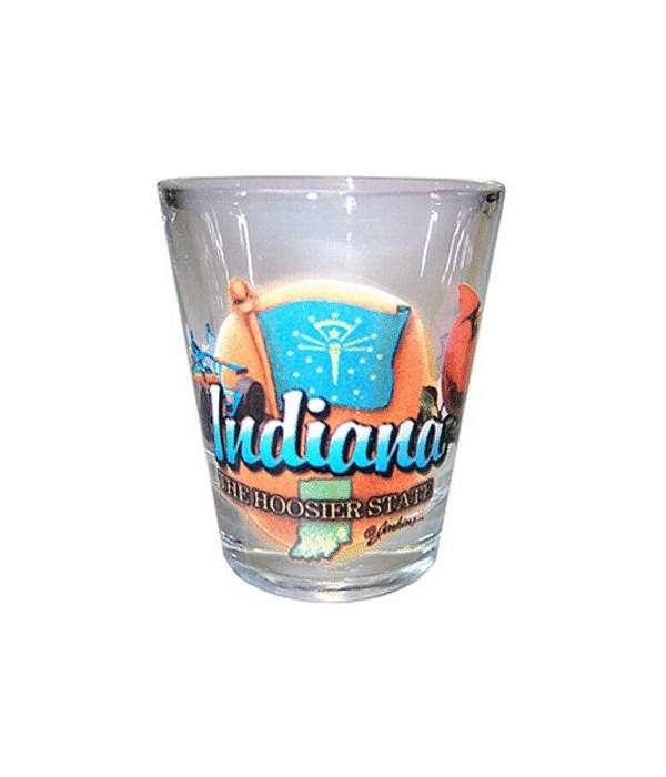 Indiana elements shotglass