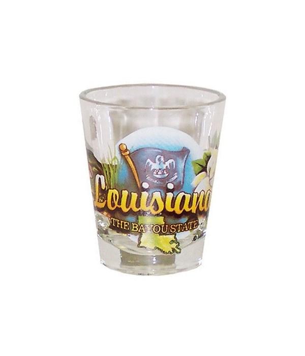 Louisiana elements shotglass