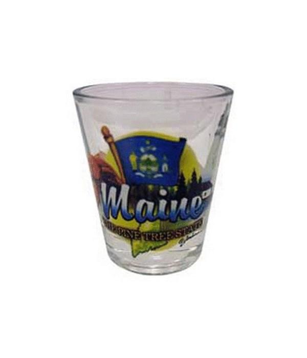 Maine elements shotglass