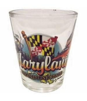 Maryland elements shotglass