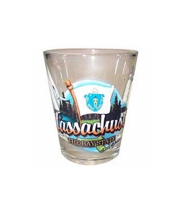 Massachusetts elements shotglass