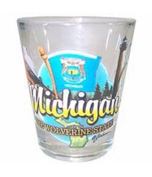 Michigan elements shotglass