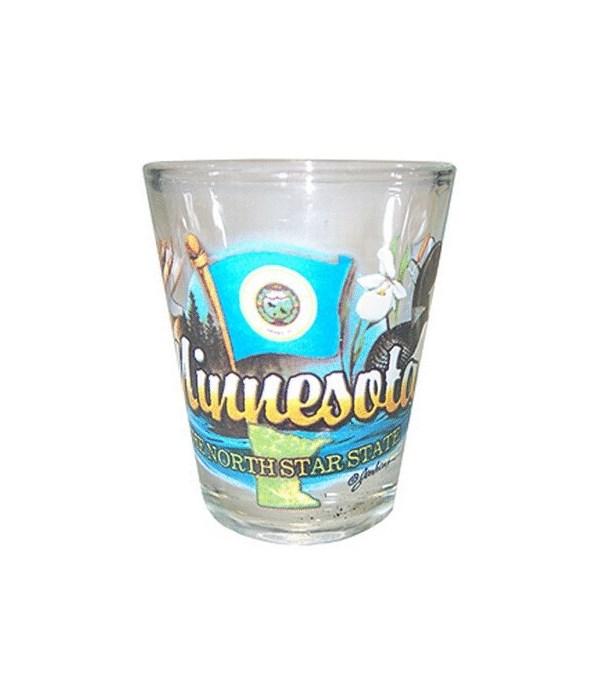 Minnesota elements shotglass