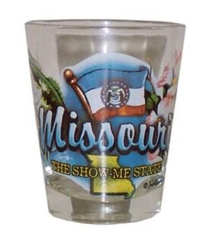 Missouri elements shotglass