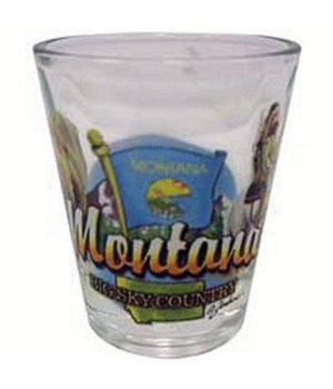 Montana elements shotglass