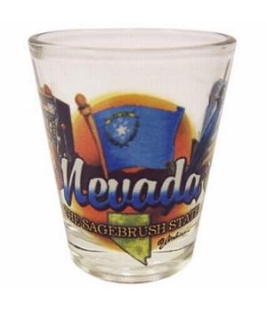 Nevada elements shotglass