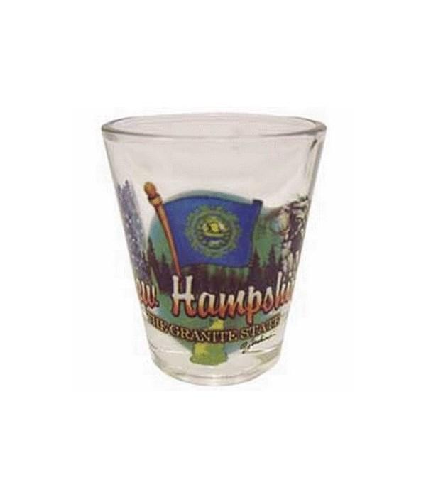 N Hampshire element shotglass