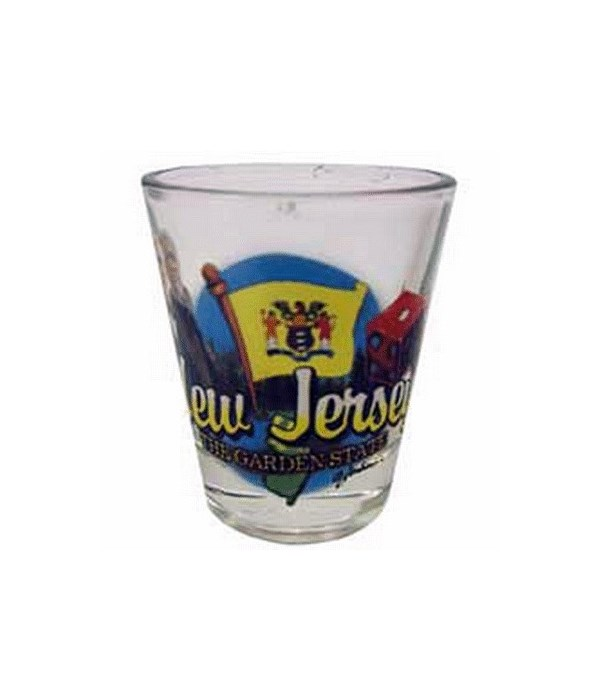 New Jersey elements shotglass