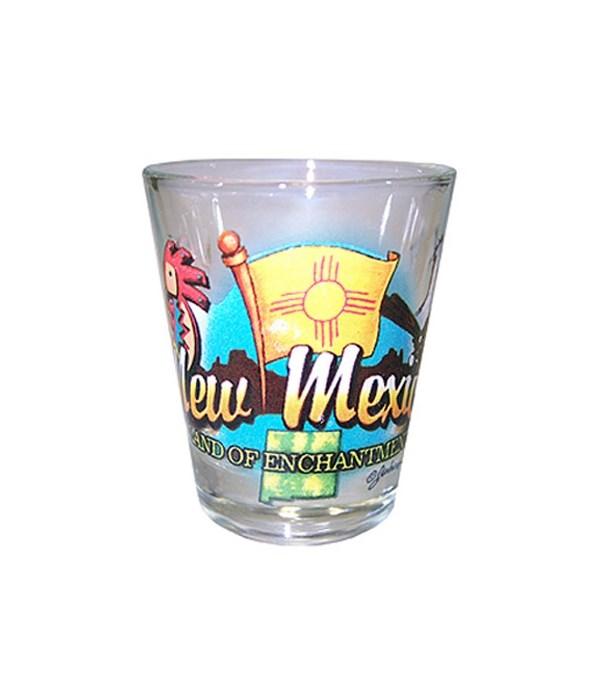 New Mexico elements shotglass