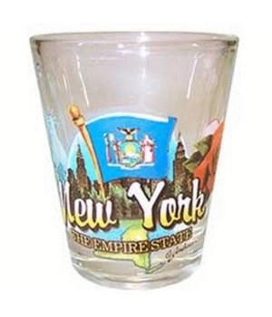 New York elements shotglass