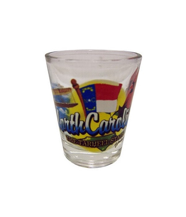 N Carolina elements shotglass