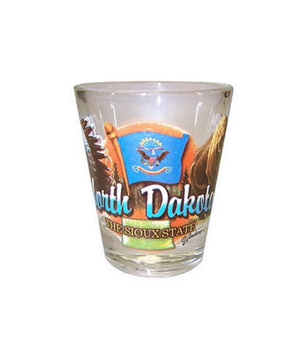 N Dakota elements shotglass