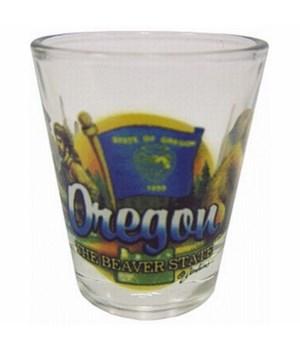 Oregon elements shotglass