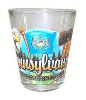 Pennsylvania element shotglass