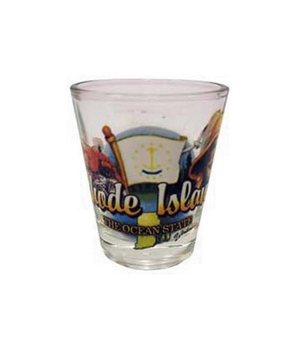 Rhode Island elements shotglass