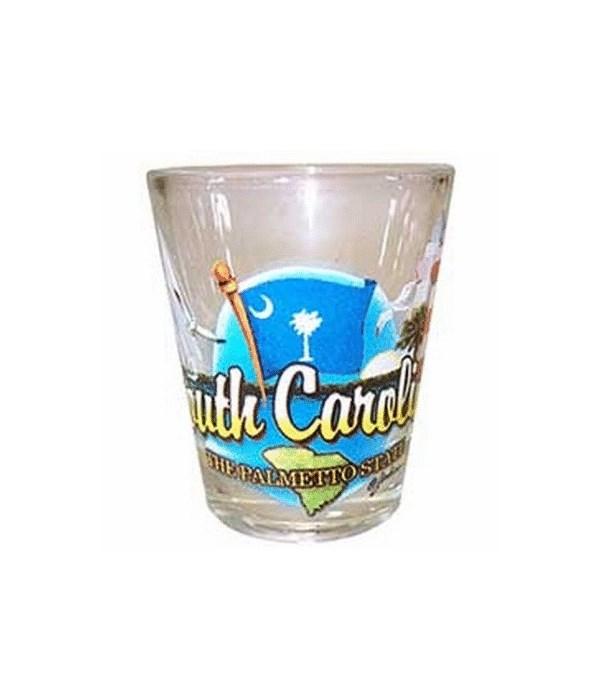 S Carolina elements shotglass
